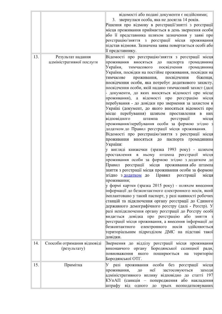 Інформаційна картка БОРОДЯНКА-6